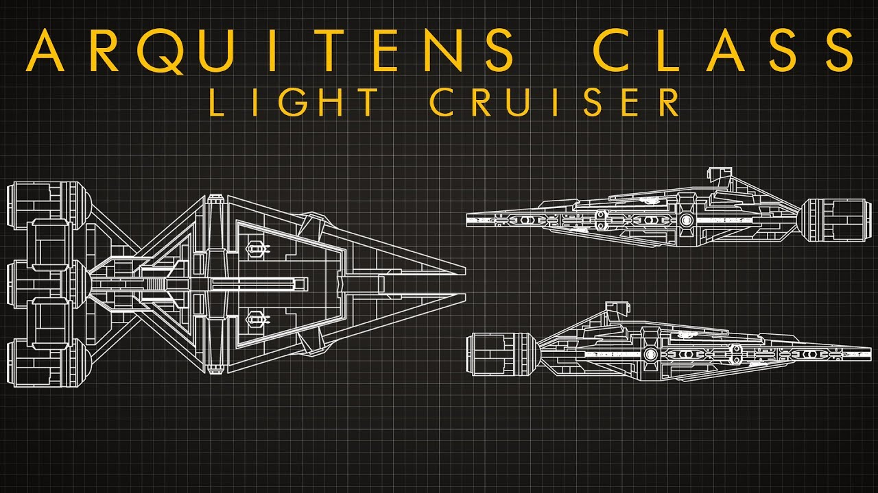 Star Wars Arquitens Class Light Cruiser Ship Breakdown Youtube