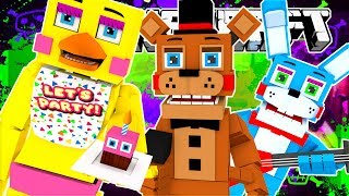 YOU CAN'T ESCAPE THIS TOWER!! MINECRAFT FNAF BEDWARS!