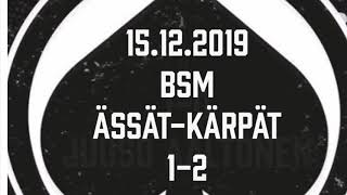 Juniori-Ässät - B1-joukkue - 15.12.2019 BSM Ässät-Kärpät Maalikooste