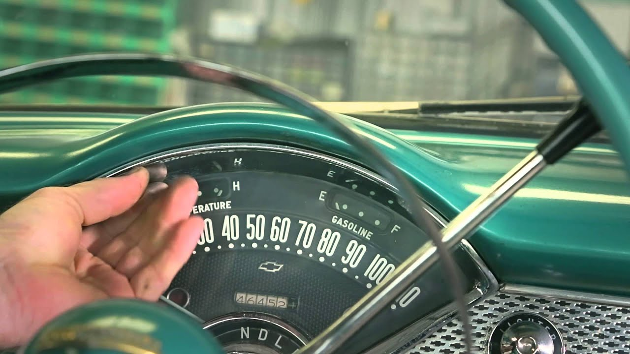 hight resolution of how to remove the instrument cluster from a 1955 1956 chevy 56 chevy headlight wiring 56 chevy dash wiring