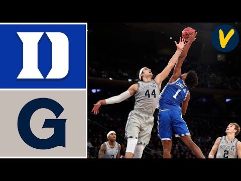 2019 College Basketball #1 Duke Vs Georgetown Highlights