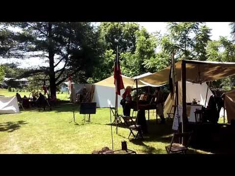 Civil War campers in Beverly, WV
