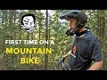 Scott Rides a Mountain Bike for the First Time
