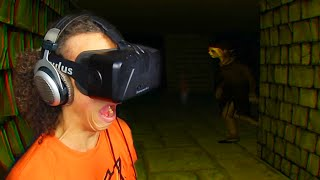 SCARIEST VIRTUAL REALITY GAME EVER! (Dreadhalls Oculus Rift)