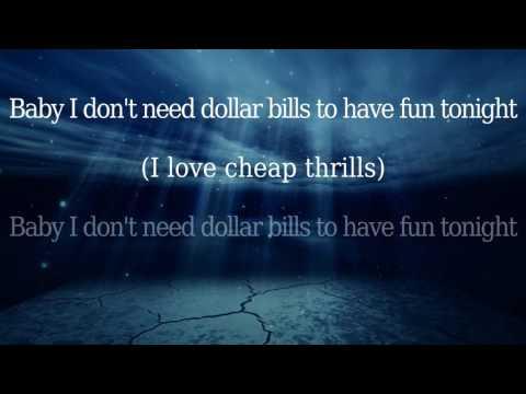 Sia – Cheap Thrills – Instrumental – Lyrics Video (Full HD)