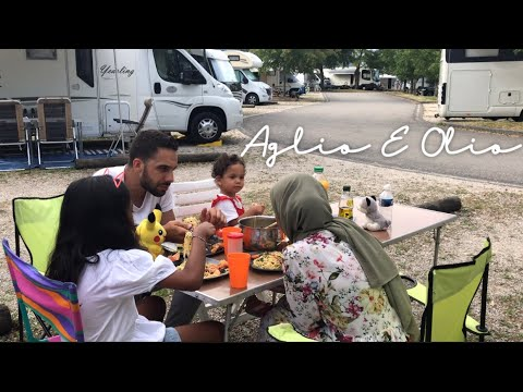 Cooking Aglio e Olio at Le Lac du Bourget, France. | Motorhome travel for the first time.