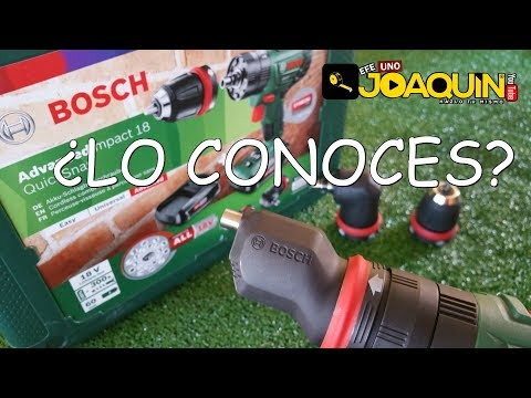 BOSCH DRILL WITH 3 INTERCHANGEABLE HEADS (You'll be surprised) Audio in Spanish