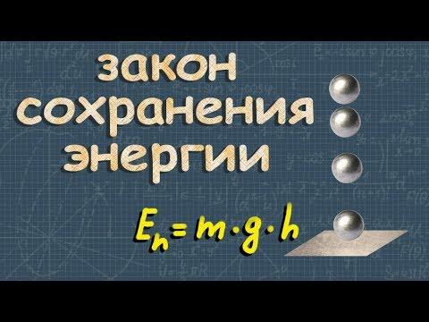 ЗАКОН СОХРАНЕНИЯ ЭНЕРГИИ в механике класс физика Перышкин