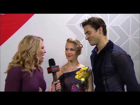 Kaitlyn Weaver and Andrew Poje Post SD Interview--Nationals 2018