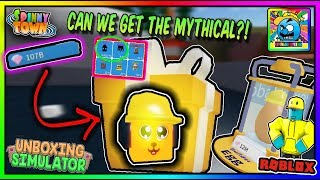 Roblox Unboxing Sim | USING OVER 25 BILLION GEMS TO GET A GODLY/MYTHICAL PET