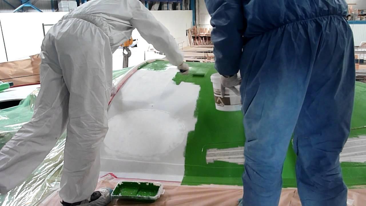 Mars 2012 peinture pont bateau team plastique vend e globe 2012 avec alessandro di benedetto3 for Peinture pour le plastique