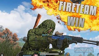 FIRST FIRETEAM WIN IN A GHILLIE SUIT! Rules of Survival Gameplay (iOS/Android/PC)