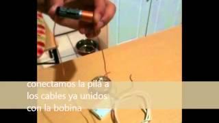 Motor eléctrico con imanes y pila AA
