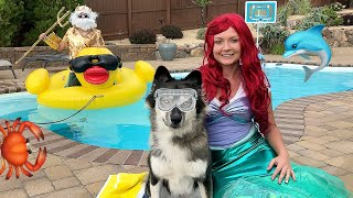 Mermaid Surprises Kakoa With Pool Party!