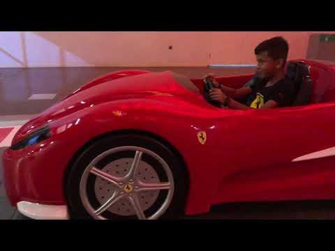 Arhaan Maru kabir Maru Ferrari world Dubai 2019-8