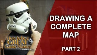 Great GM - How to draw a map for your one shot rpg adventure - Game Master GM Tips