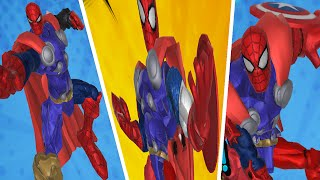 Marvel Super Hero Smasher Spiderman - All Superhero Powerup | Smash + Mix