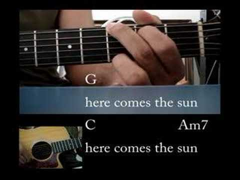 Chords and Lyrics -The Beatles here comes the sun - new version