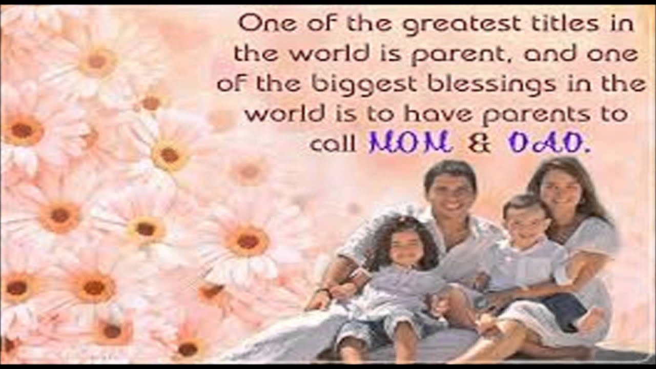 Top 10 Parents Day Quotes And Sayings Youtube