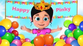 Pinky Ka Birthday | जन्मदिन कि शुभ कामनाएं | Birтhday In Hindi | Kids Rhymes In Hindi | Hindi Poem