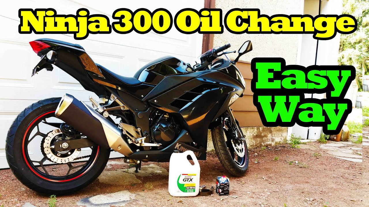 Kawasaki Ninja 300 Oil Change Youtube