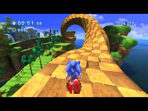 Sonic Generations - Classic Sonic in 3D stage (Green Hill Zone)