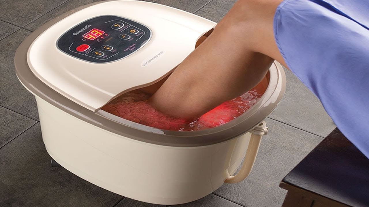 Best Heated Foot Spa - Home Foot Bath Machine With Massager - YouTube