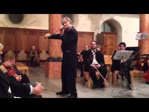 "Alexandre Dubach, violin, plays ""Letzte Rose"""
