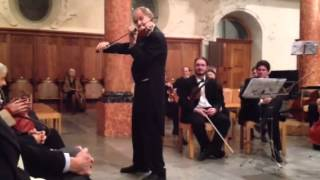 "Alexandre Dubach, violin, plays ""Letzte Rose"""