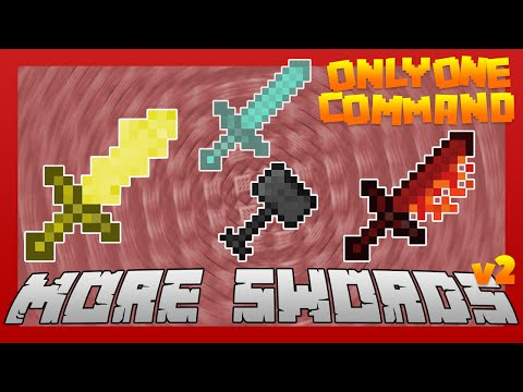 MORE SWORDS with only one Command Block [v2] | Minecraft [Survival Friendly]