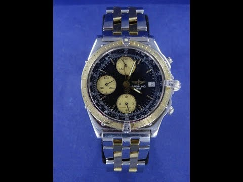 Breitling 1884 chronograph ss %26 18k gold mens watch for sale