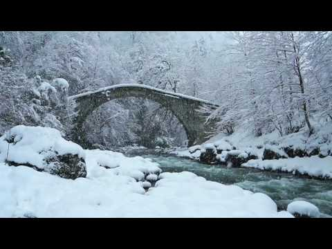 Snowstorm & Icy Cold River  Falling Snow & Polar Wind  Sounds of Winter