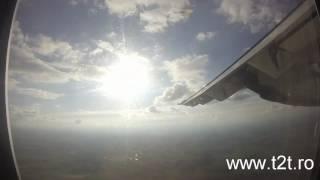 TAROM ATR 42-500 Flight Bucharest - Satu Mare Take-off, landing HD Trip Report
