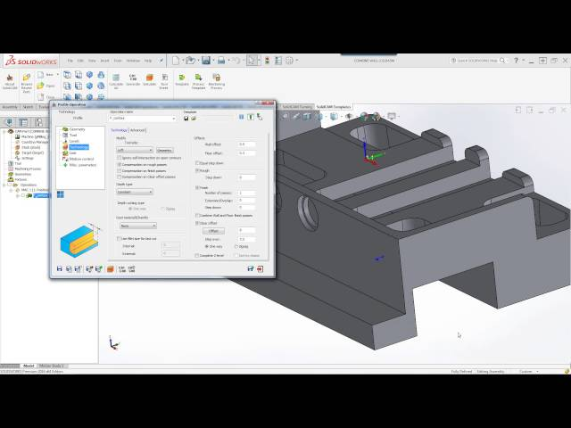 SolidCAM 2016 - Combine Wall and Floor Finish Passes