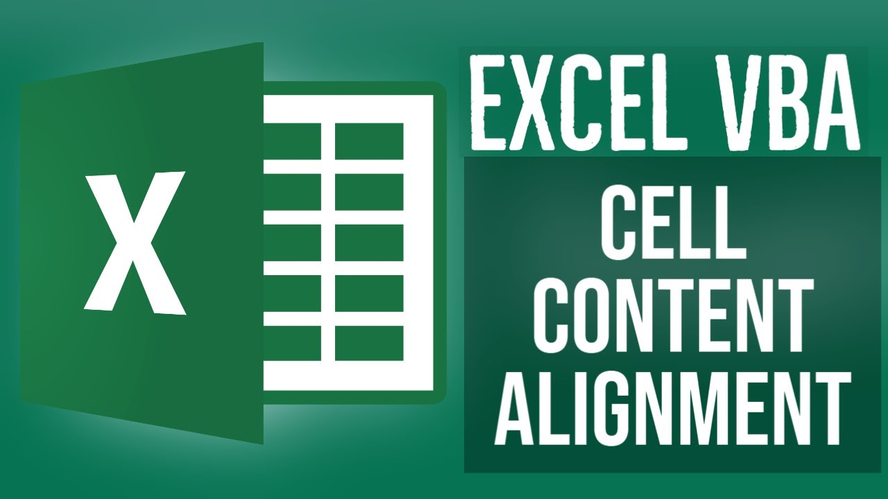 Excel VBA Tutorial for Beginners 14- Cell Content Alignment in VBA