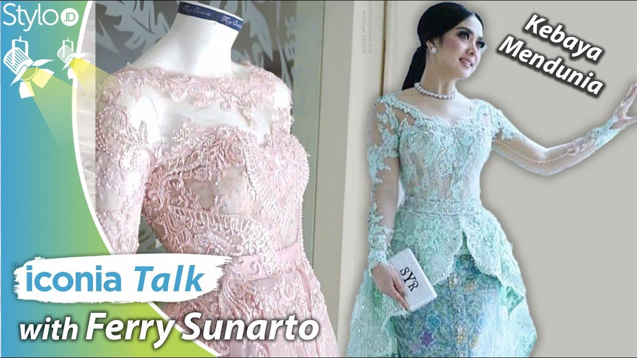 Baju Kebaya Modern Ala Syahrini By Ferry Sunarto Model Kebaya Artis Indonesia 2019