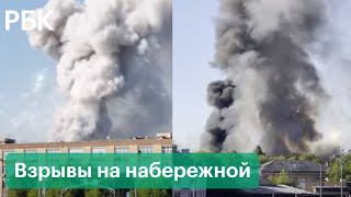 Фото Склад пиротехники загорелся в Москве, слышны взрывы - видео с места