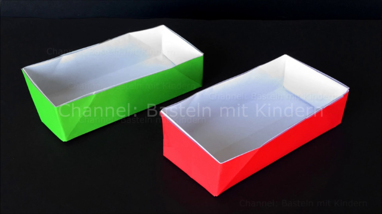 Kasten Basteln Origami Box Rectangular Tutorial How To Make A Box With Paper