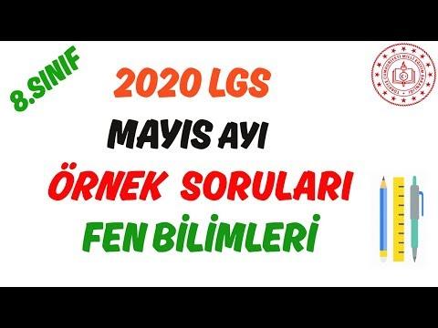 Mayıs Ayı MEB 2020 LGS Sayısal Örnek Soru Ve Çözümleri Fen Bilimleri