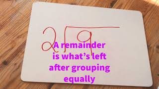 Division with remainders - - Mrs Holdstock Teaching and Learning ideas