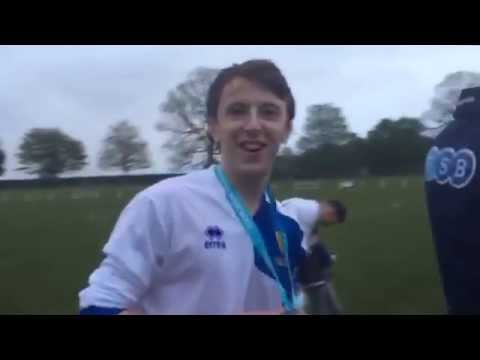 Captain Lawrence Naismith after the Lothian Cup Final
