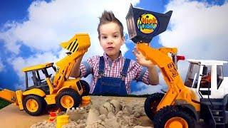 Брудер. Рабочие машины. Фронтальный погрузчик Liebherr Развивающее видео для детей Nick Turbo(, 2016-03-01T06:00:01.000Z)