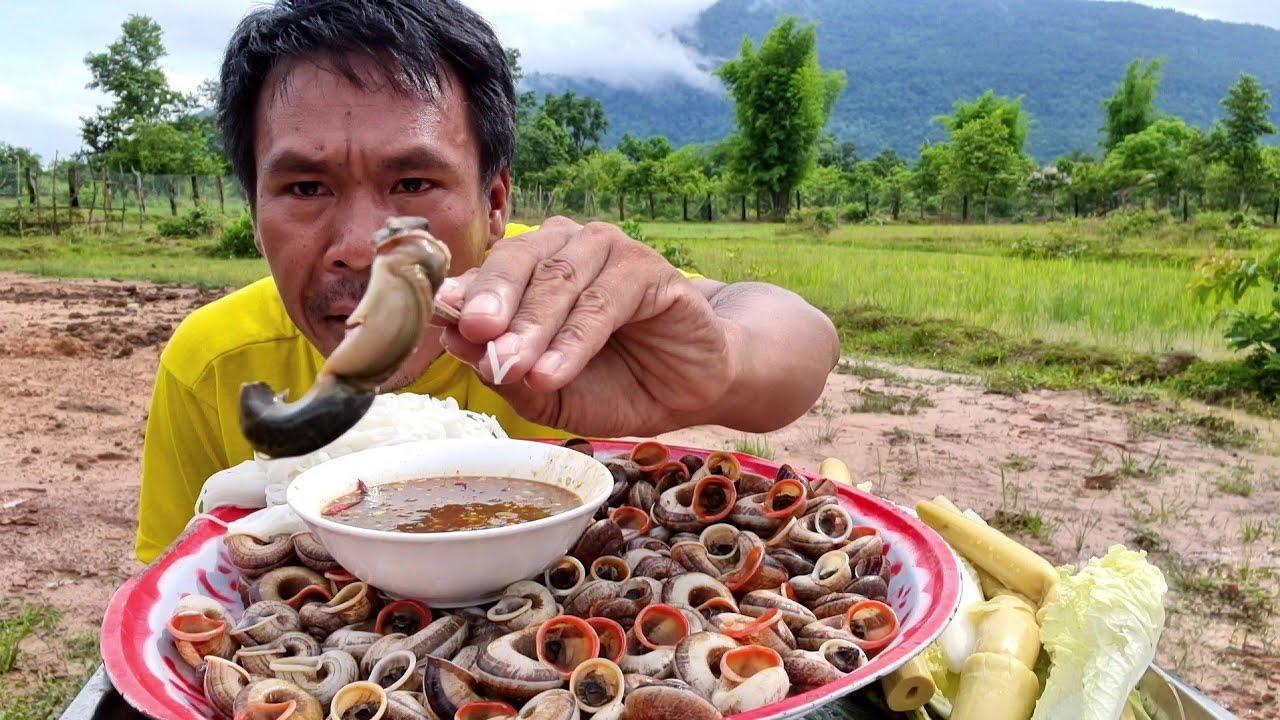 ຫອຍຫອມຈີ້ມນ້ຳແຈ່ວ หอยหอมจี้มน้ำแจ่ว - ບົວໄລ,บัวไล