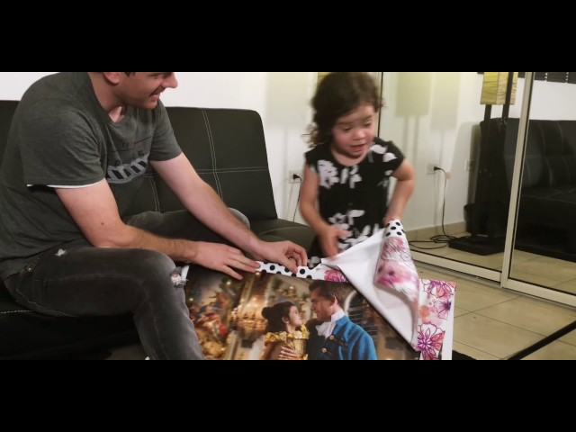 Dad makes daughter's Beauty and The Beast dream come true!