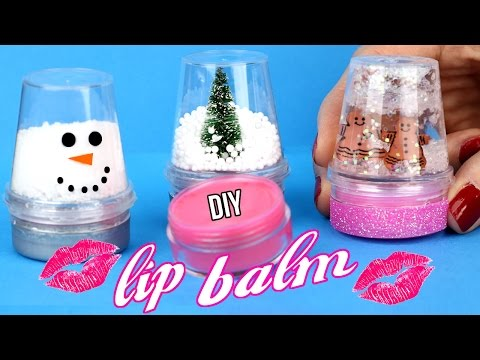 DIY Lip Balm {Easy}! How To Make Miniature Snow Globe Lip Gloss! Cool DIY Crafts-Tutorials!