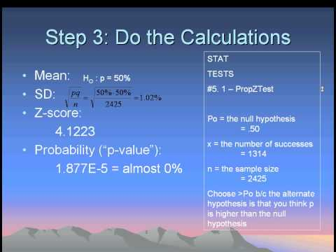 AP Statistics Chapter 20 - Hypotheses Testing in Sample Proportions