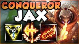 NEW CONQUEROR RUNE + NEW RAGEBLADE = ONE OP JAX! JAX SEASON 8 TOP GAMEPLAY! - League of Legends