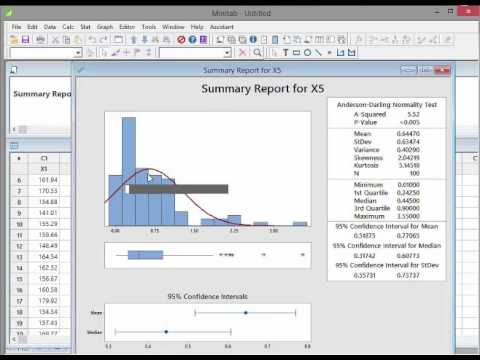 how to create a normal distribution in minitab