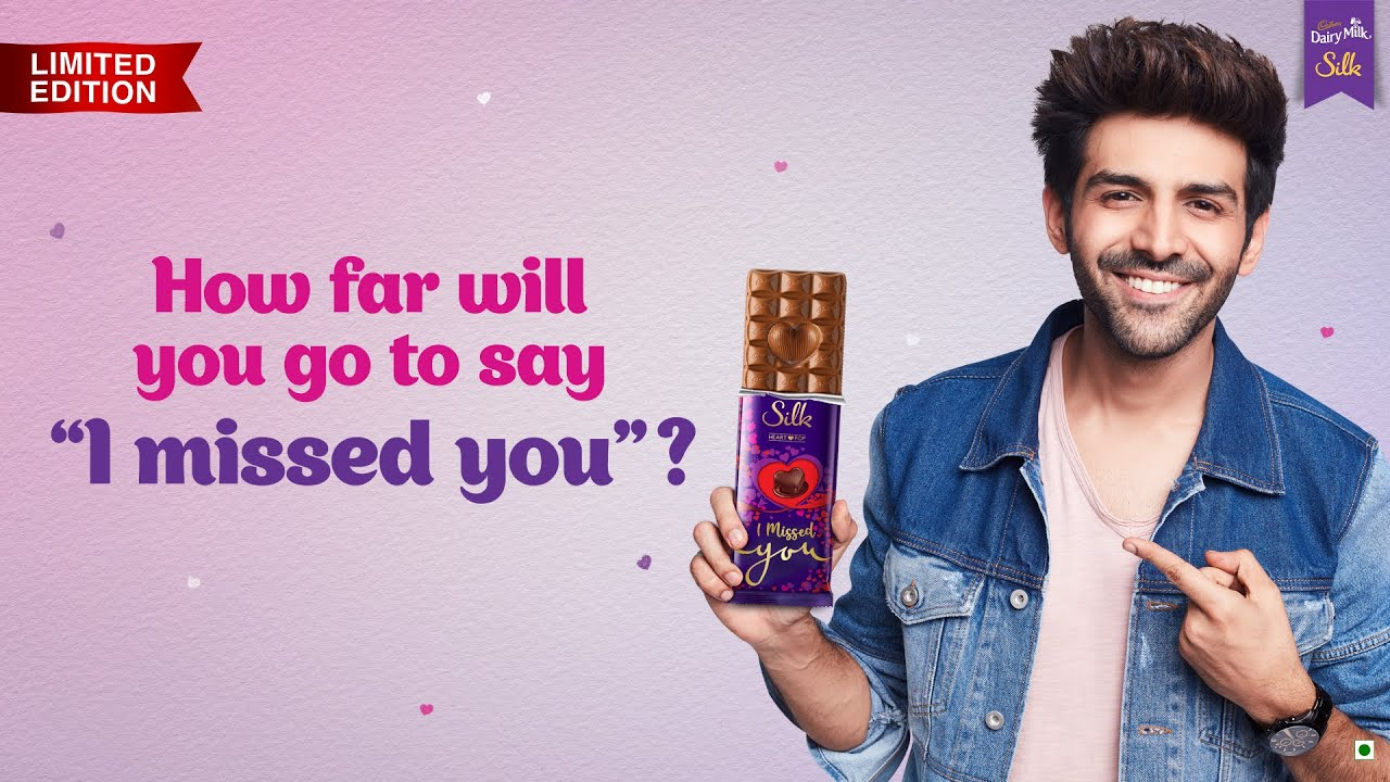 Cadbury Silk Heart Pop – 'I Missed You' ❤️