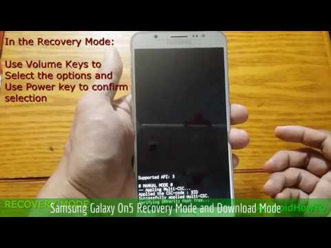 Samsung Galaxy On5 Recovery Mode and Download Mode